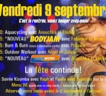 Soirée évènement du 9 septembre